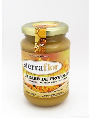 Jarabe de miel y propóleos
